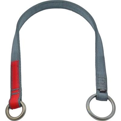 Анкерный арбостроп «ВЕТКА» (лента многослойная, 25 мм с двумя стальными кольцами), 22 кН