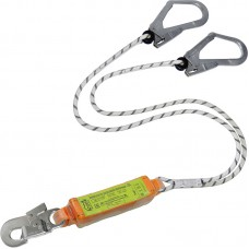 Строп верёвочный двойной с разрывным амортизатором и карабинами (2 Монтажных + 1 Монтажный малый)