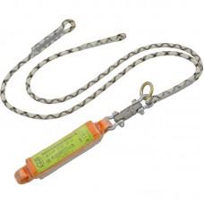 Строп верёвочный двойной с подсоединяемыми разрывным амортизатором и вертлюгом