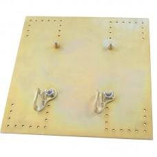 Плита анкерного столбика «ПОСТ для профнастила» с двумя шлямбурными ушами