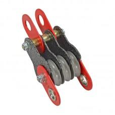 Полиспаст-блок «СПАСАТЕЛЬ 3+» (сталь, Ø 35/27 мм)