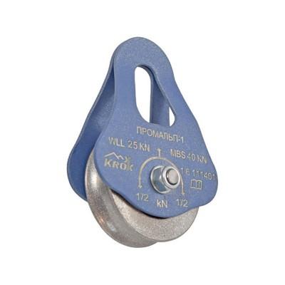 Блок-ролик «Промальп-1» одинарный (сталь, Ø49/37/12 мм)