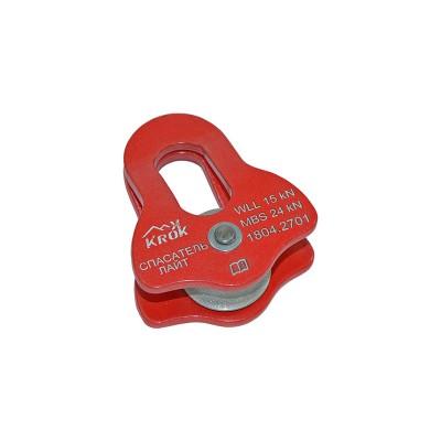 Прусик-блок «Спасатель-Лайт» одинарный (сплав алюминия, Ø25/18/12 мм)