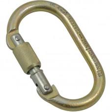Карабин «ОВАЛ КРЮЧОК» (сталь, резьб. муфта, 25 кН)