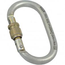 Карабин «ОВАЛ РЗ» (сталь, KeyLock, резьб. муфта, 25 кН)