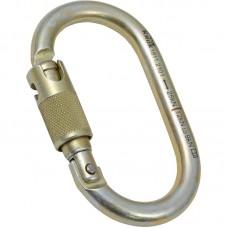 Карабин «ОВАЛ Байонет» (сталь, KeyLock, муфта байонет, 25 кН)