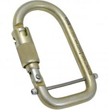 Карабин «ПолуОВАЛ» (сталь, KeyLock, муфта байонет, 22 кН)