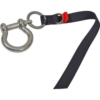 Шакл ОМЕГА 24×12 (нерж.) с кольцом и ленточным фиксатором