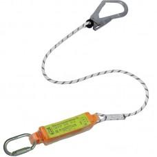 Строп верёвочный с разрывным амортизатором и карабинами (Монтажный + Овал Автомат)