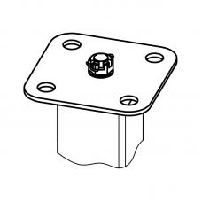 Такелажная пластина для анкерных столбиков ПС-Ш квадратная на четыре отверстия