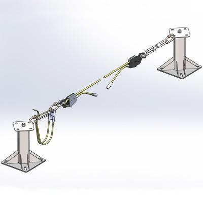 Горизонтальная гибкая анкерная линия «МОБИ-СТИЛ 10» (трос 10мм)