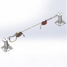 Горизонтальная гибкая анкерная линия «МОБИ-СТИЛ 8» (трос 8мм)