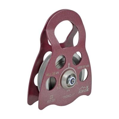Блок-ролик «Люкс-1» одинарный (сталь, Ø78/62/12 мм)