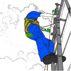 Комплект СИЗ от падения с высоты «Для страховки при подъёме по вертикальным лестницам на мачты и вышки»