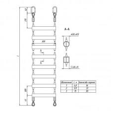 Тросовая лестничная секция (из нержавеющей стали)