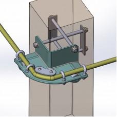 Анкер «Угловая консоль обхода  наружного периметра с ролингом»