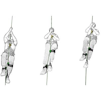 Комплект снаряжения для способа подъёма по веревке «Мачта»(кроль-пояс-пантин-колено-пантин-стопа)