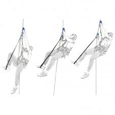 Комплект снаряжения для способа подъёма по веревке «Альпика» ( жумар-нога-жумар-грудь)
