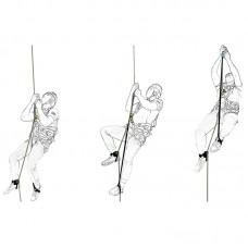 Комплект снаряжения для способа подъёма по веревке «Лестница»( жумар-нога-кроль-пояс-пантин-стопа)