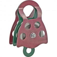 Блок-ролик «Люкс-2/1», двойной (сталь, Ø78/62/12 мм)