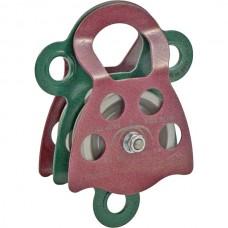 Блок-ролик двойной ЛЮКС-2/3 (сталь, Ø 78/68 мм)