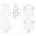 Блок-ролик «Люкс-2/0», двойной (сталь, Ø78/62/12 мм)
