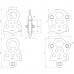 Блок-ролик одинарный ЛЮКС-1 Ø 78/68 мм