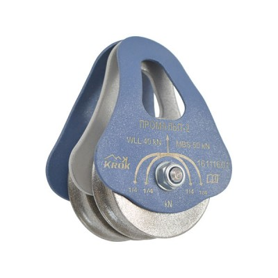 Блок-ролик «Промальп-2/0», двойной (сталь, Ø49/37/12 мм)