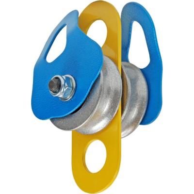 Блок-ролик «Промальп», двойной (сплав алюминиево-магниевый, Ø49/37/12 мм, 30 кН)