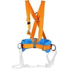 Пояс удерживающий (предохранительный) «МОНТАЖНИК» (с плечевыми ремнями)