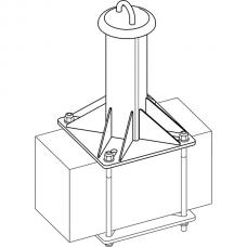 Анкерный столбик «ПОСТ-1» универсальный с петлёй