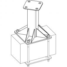 Анкерный столбик «ПОСТ-2» универсальный с неподвижным накопителем