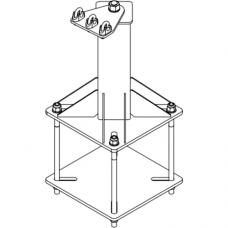 Анкерный столбик «ПОСТ-4-СК» универсальный с пластинчатой консолью обхода