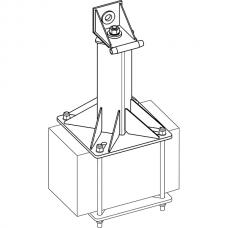 Анкерный столбик «ПОСТ-4» универсальный с консолью обхода
