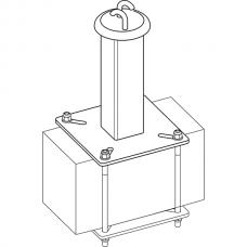 Анкерный столбик «ПОСТ-ПР» промежуточный с полупетлями