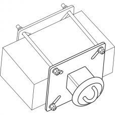 Анкерный столбик «ПОСТ ПС-1» потолочно-стеновой с петлёй