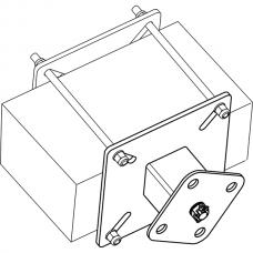 Анкерный столбик «ПОСТ ПС-3» потолочно-стеновой с вращающимся накопителем