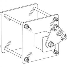Анкерный столбик «ПОСТ ПС-4-СК» потолочно-стеновой с пластинчатой консолью обхода