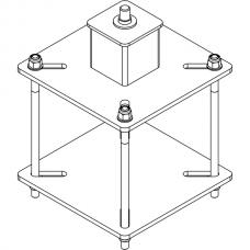 Анкерный столбик «ПОСТ ПС-Ш» потолочно-стеновой со шпилькой