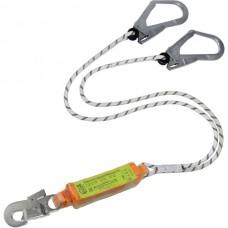 Строп верёвочный двойной с одноразовым разрывным амортизатором и карабинами (2 Монтажных + 1 Монтажный)