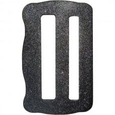 Пряжка 47 мм двухщелевая стальная