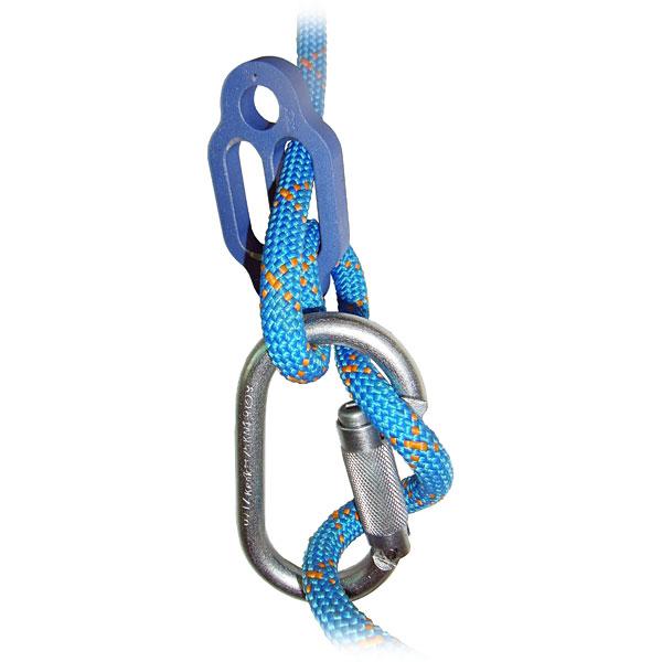 Опасное положение верёвки на карабине