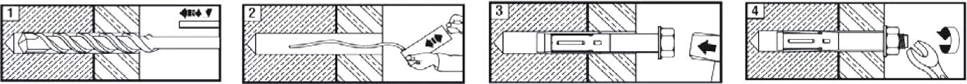 Схема установки анкера