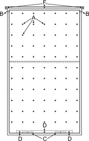 Тренажёр СКАЛОДРОМ (скальная стенка)