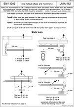EN-13089 UIAA-152 Ice tools (Ледовые инструменты) 1