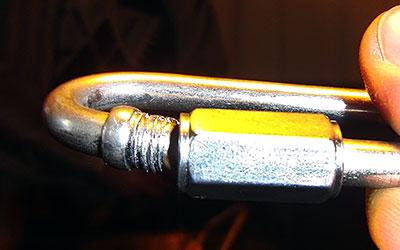 Карабин РАПИД ОВАЛ Ø 6 мм сталь после статических испытаний